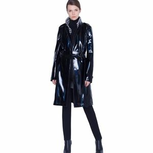 Akris Punto Lacquered Trench with Removable Vest